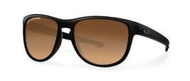 New OAKLEY Sunglasses Silver R OO9342-06 Matte Black / Brown Gradient Polarized - $97.02
