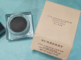 Burberry EYE COLOUR CREAM Buildable Eye Shadow CHARCOAL Gray Color 114 +... - $19.28
