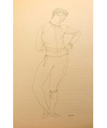 Two Line Drawings by Eugene Karin 1957 Shakespeare's Romeo & Juliet Mode... - $30.99