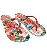 US WOMEN'S COLOURFUL FLIP-FLOPS BEACH SANDALS SUMMER SANDY SLIPPER JOOTI... - $16.00