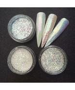 3 Jars/Set Glitter Mermaid Unicorn Sequins 3D Nail Art Pigment Powder De... - $7.64