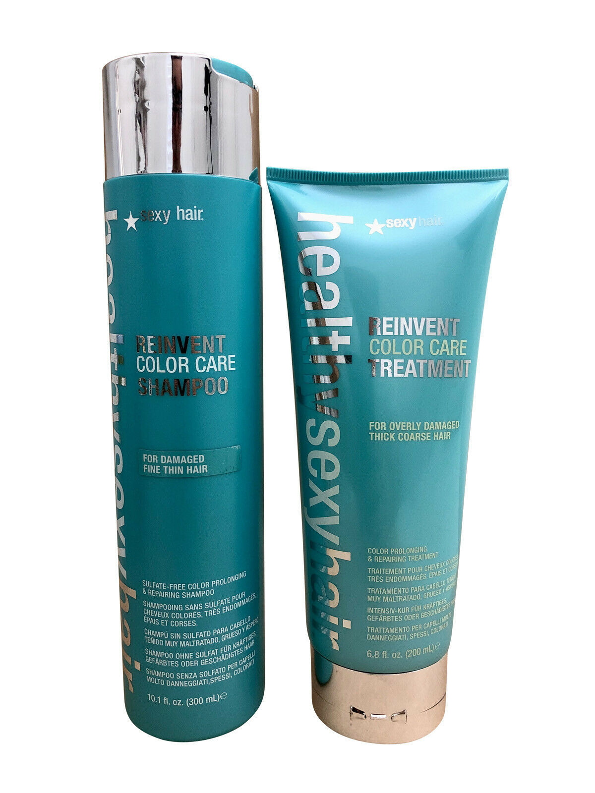 Primary image for Healthy Sexy Hair Reinvent Color Care Shampoo 10.1 OZ & Treatment 6.8 OZ Set