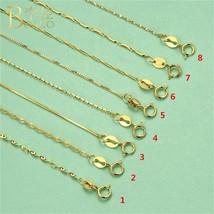 BOAKO 925 Sterling Silver Necklaces Chain Women 45cm Long Gold Necklace Chain DI - $15.57