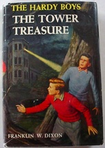 Hardy Boys The Tower Treasure 1959 hcdj Franklin W. Dixon mystery 1 - $15.00