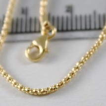 Yellow Gold Chain 750 18k Mini Basket Gloss Long 40 45 50 cm 1 mm thick image 2