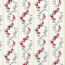 Rosette~Pink Floral Garland on Ivory Cotton Fabric by RJR Fabrics - $12.30