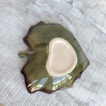 "Ceramic Grape Leaf Dish, 7"", Pottery Spoon Rest, Bowl, Teabag Holder, Soap Dish image 4"