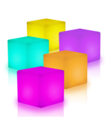 "16"" Cube LED Color Light Stool Outdoor Indoor Patio Party Yard Table Cha... - $98.99"