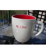 Rae Dunn Coffee Tea Mug Cup Small Letters Mr Claus Red Interior Christma... - $10.00