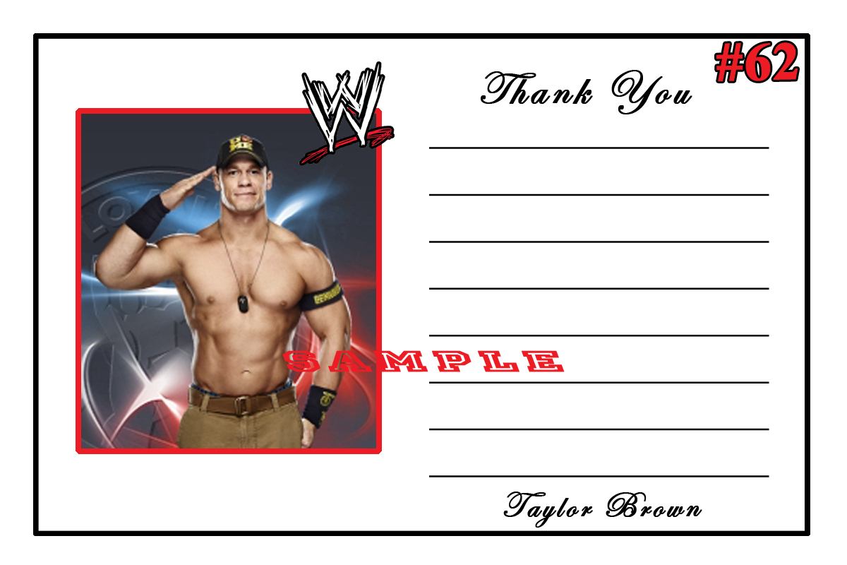 wwe wrestling birthday thank you cards  ea and  similar items, Birthday card