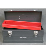 """Vintage 20"""" Craftsman Gray Metal Tool Box with Red Pull-Out Tray Mechanics - $39.95"""