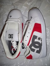 Men's Guys Dc Shoes Net White/Red/Gray Skateboarding Shoes Sneakers New $70 - $58.97