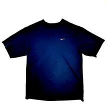 Nike Dri-Fit Mens T-Shirt Performance Size M Navy Blue Polyester SL3  - $8.90