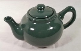VINTAGE NEWCOR STONEWARE CHINA FOREST GREEN 6 CUP TEAPOT - $24.30