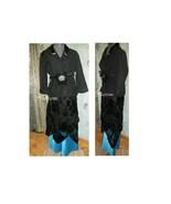 Womens costume vintage style dress gown Downton Edwardian teal black pro... - $130.00