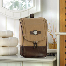 Personalized Canvas and Leather Travel Kit Travel Bag Gifts - $57.42