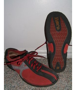 BORN SPORTY STYLE RED & BLACK SUEDE LEATHER SHOES--7 38 - $15.00