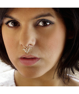 Beautiful Silver Septum For Non Pierced Nose - Indian Nose Ring - Ethnic Septum - $18.50