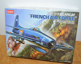 ACADEMY F8F-1/2 BEARCAT FRENCH AIR FORCE Model Kit Sealed Parts 1:48 Scale - $25.82