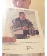 GENUINE AUTOGRAPHED PICTURE OF GEORGE BUSH - $500.00
