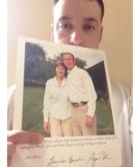 GENUINE AUTOGRAPHED PICTURE OF GEORGE BUSH & LAURA BUSH - $500.00