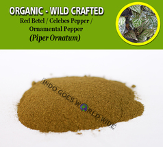 POWDER Red Betel Celebes Pepper Ornamental Pepper Piper Ornatum Organic ... - $8.35+