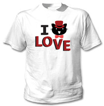 I Love Cat 2 - New Cotton White Tshirt - $23.59
