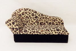 Free ship–NEW–Jewelry Holder–chaise–Cheetah–gold black dots - $10.49