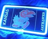 Sd366 ncaa kansas ku jayhawks 3d beer bar blue neon light sign 11   x 8   free shipping worldwide thumb155 crop