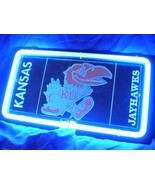 "NCAA Kansas KU Jayhawks 3D Beer Bar Blue Neon Light Sign 11'' x 8"" - $71.10"