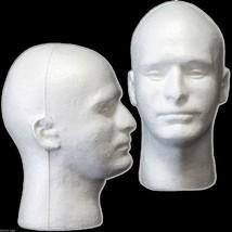 New Prop Building Supplies-MANNEQUIN HEAD-Halloween Costume Mask Wig Dis... - $11.85