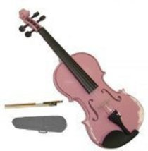 Lucky Gifts 1/16 Size Beginner, Student Violin with Case and Bow ~ Pink - $49.50
