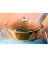 Anchor Hocking Fire King Copper Tint 2 Quart Round Covered Casserole - $10.70