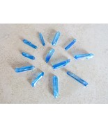 Blue Aura Quartz Natural Gemstone Crystal Healing Wand Reiki Energy Handmade Gem - $6.92