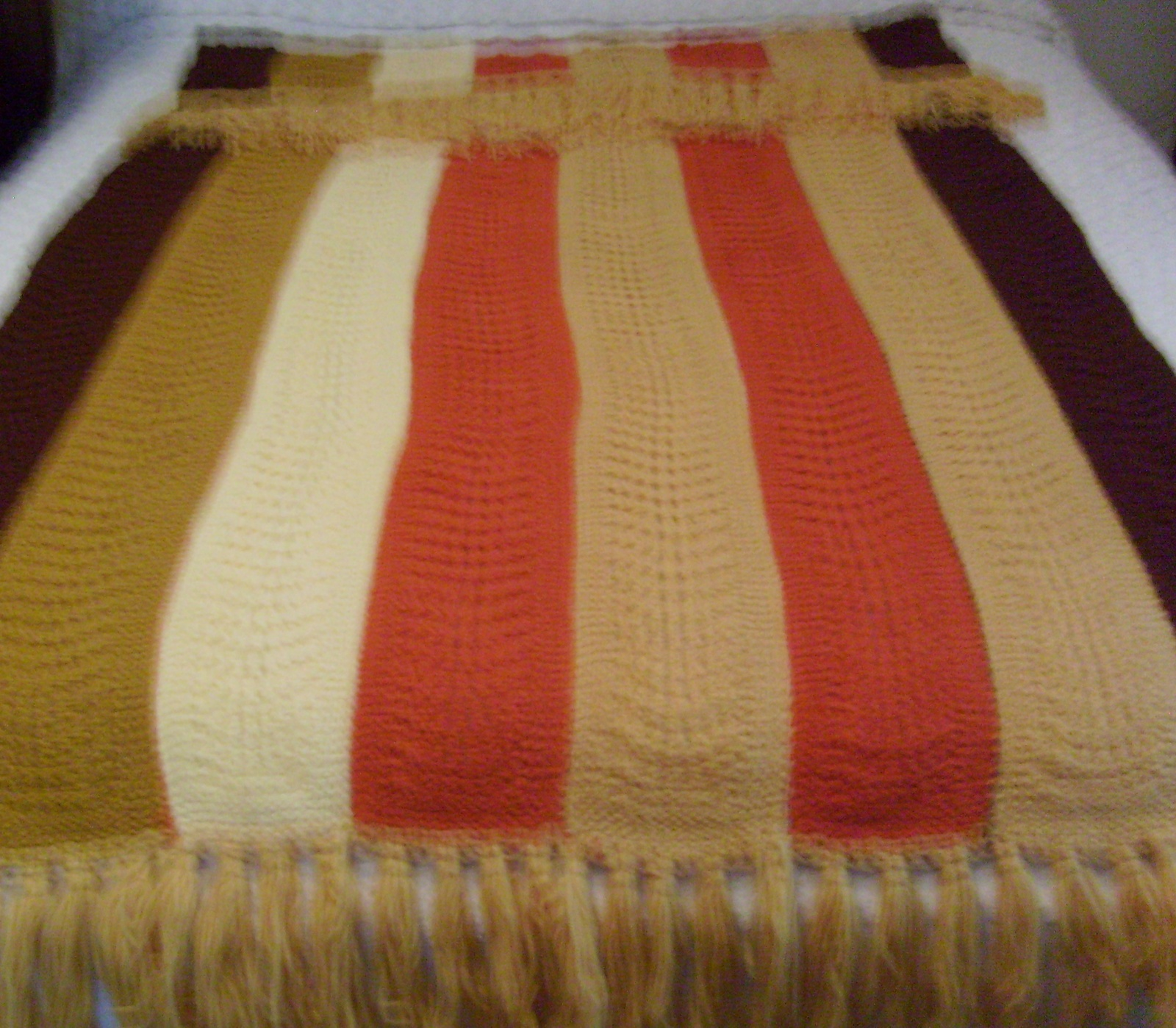 Vintage 70s Yellow Daisy Flower Afghan Throw Blanket Flower: XXX Porn Library