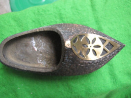 USSR Russia Soviet Vintage 1960 s ashtray metal low shoe - $27.70
