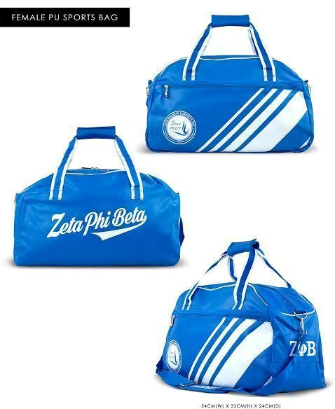 202709eb7a ZETA PHI BETA SORORITY DUFFEL GYM BAG TRAVEL TOTE BAG LADY S SHOULDER BAG  TOTE