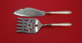 Silver Flutes by Towle Sterling Silver Fish Serving Set 2 Piece Custom HHWS - $127.40