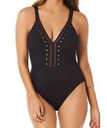 Amoressa BLACK Cabaret Suzette with Soft Cup Bra One Piece Swimsuit, US 10 - $139.59
