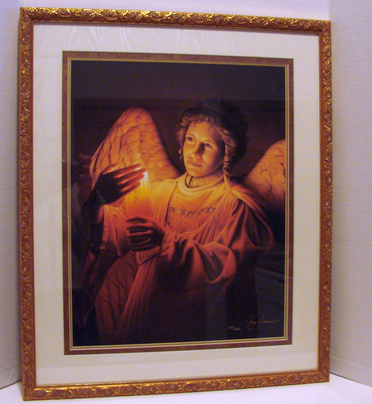 Primary image for Jerry Gadamus Angel of Light Signed Limited Ed Framed, Matted