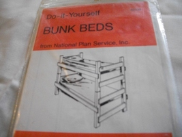 Wooden Bunk Beds Pattern  - $20.00