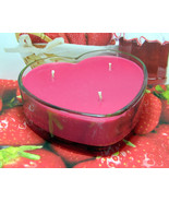 Strawberry Jam PURE SOY Heart Container Candle 16 oz - $12.00