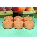 Georgia Peach PURE SOY Tea Lights (Set of 6) - $5.00