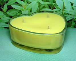 Lemon Verbena PURE SOY Heart Container Candle 16 oz. - $12.00