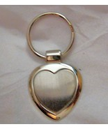 Heart Silver tone metal engraveable key ring New  - $14.84