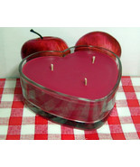 Macintosh Apple PURE SOY  Heart Container Candle (1 pound of wax) - $12.00
