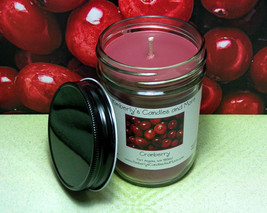Cranberry Pure Soy Jelly Jar Candle - $8.00