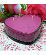 Rose Bouquet PURE SOY Heart Container Candle 16 oz - $12.00