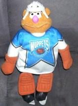"McDonald's Canada The Muppets FOZZIE BEAR NHL Hockey Plush 1995 10"" RARE - $5.96"