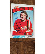 1977-78 TOPPS SIGNED CARD DANNY GRANT RED WINGS NORTH STARS KINGS CANADI... - $26.99